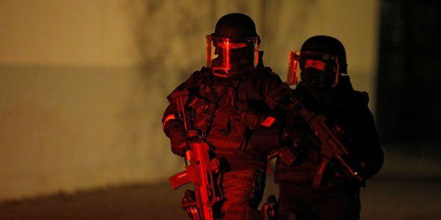 Des forces de sécurité à Strasbourg ce jeudi 13