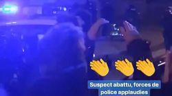 La police applaudie dans les rues de Strasbourg après avoir abattu