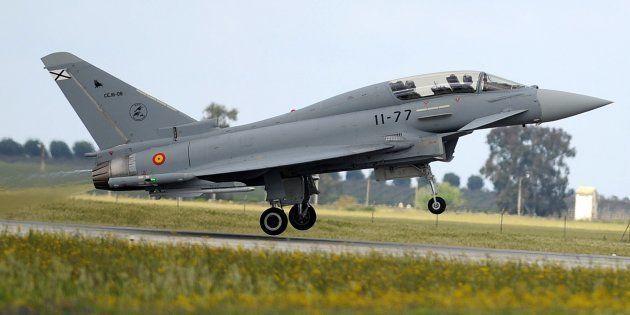 Un avion de chasse espagnol