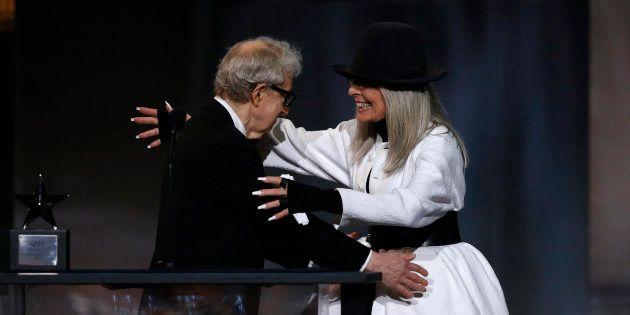 Woody Allen et Diane Keaton lors du American Film Institute Life Achievement Award en 2017. ( Photo:...