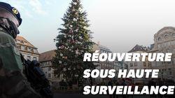 Les images de la réouverture du marché de Noël de Strasbourg sous haute