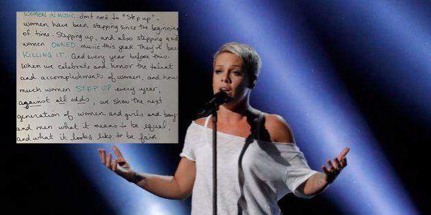 Grammy Awards 2018: La réponse parfaite de Pink au président après son conseil aux artistes
