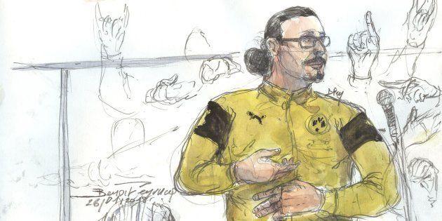 Stratégie ou personnalité sans filtre, comment comprendre l'attitude de Jawad à son procès? (Dessin d'audience,...