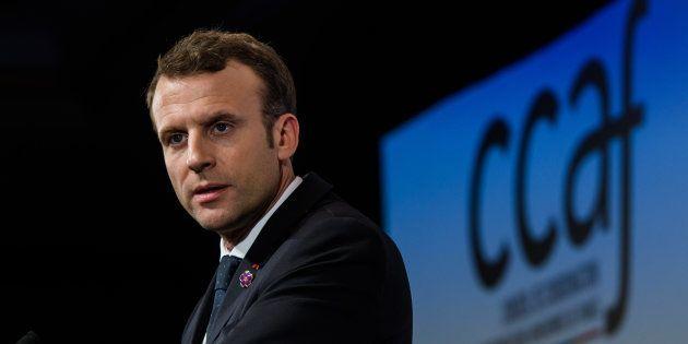 Emmanuel Macron au dîner annuel du CCAF le 30 janvier