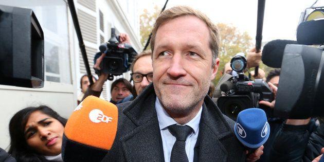Paul Magnette se rendant à une réunion sur le Ceta à Bruxelles en octobre