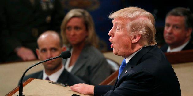 Donald Trump devant le Congrès à Washington le 30 janvier