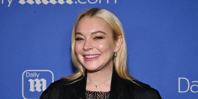 Lindsay Lohan en décembre 2017 à New
