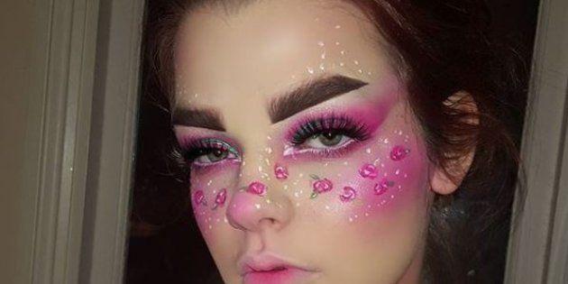 Elle se sert du maquillage pour sublimer son