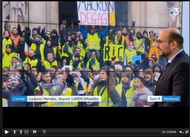 Gilets jaunes: France 3 accusée d'avoir censuré une pancarte