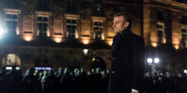 Emmanuel Macron à Strasbourg le vendredi 14