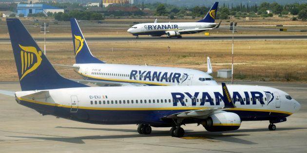 Des avions de Ryanair à l'aéroport de Valence en Espagne le 25 juillet