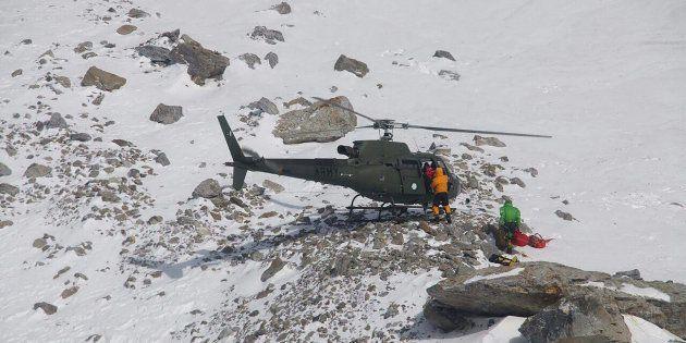 Elisabeth Revol secourue en hélicoptère sur le Nanga Parbat au Pakistan le 28 janvier