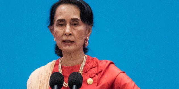Aung San Suu Kyi à Pékin, le 1er