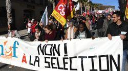 Lycéens et étudiants manifestent contre la sélection à la fac et le nouveau