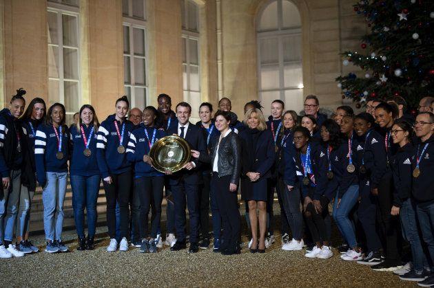 Les championnes d'Europe de hand reçues à