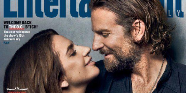 Lady Gaga and Bradley Cooper très complice en une d'Entertainment