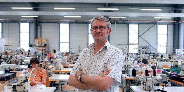 Didier Degrand dans les locaux d'Indiscrète à Chauvigny le 1er juillet