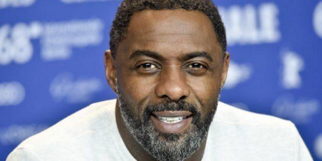 Idris Elba lors de la conférence de presse pour son