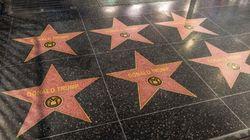 Un artiste pro-Trump recouvre plusieurs étoiles du Walk of Fame avec celle du