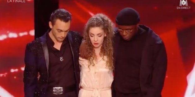 Jean-Baptiste Guégan et le couple de danseurs Dakota et