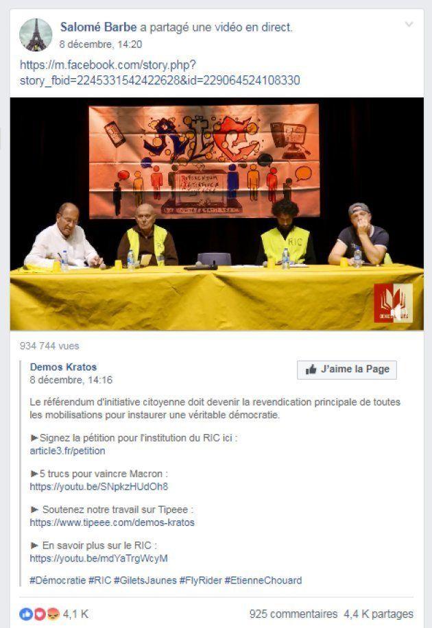 Organisée par Demos Kratos, une conférence sur le RIC avec Étienne Chouard a fait un carton chez les...