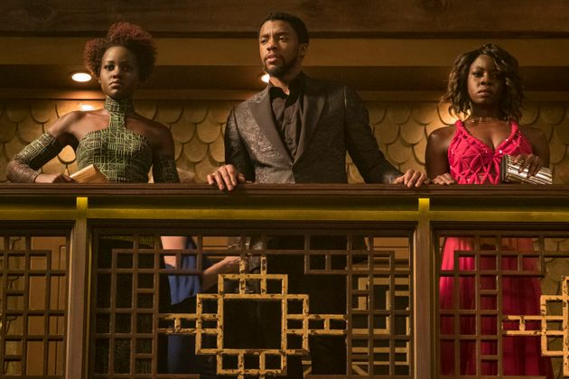 Marvel Studios' BLACK PANTHER..L to R: Marvel Studios' BLACK PANTHER..L to R: Nakia (Lupita Nyong'o),...