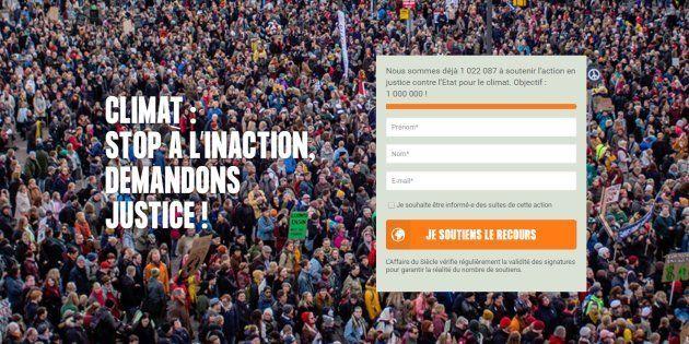 Plus d'un million de personnes ont déjà signé la pétition initiée par quatre ONG pour traîner l'Etat...
