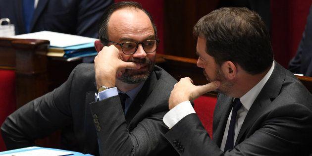 Le premier ministre Édouard Philippe et le délégué général de LREM Christophe Castaner ont ardemment...