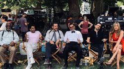 Dany Boon hilare avec Jennifer Aniston et Adam Sandler sur le tournage de