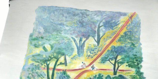 Fresque de Jean-Jacques Sempé à
