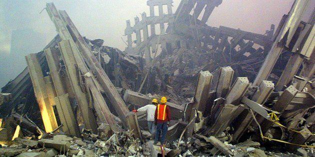Dans les décombres du World Trade Center le 11 septembre