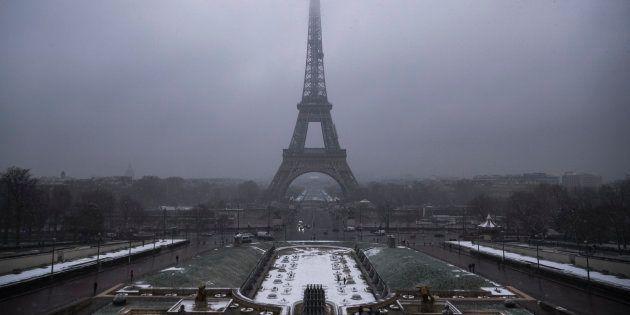 Paris sous la neige le 5 février