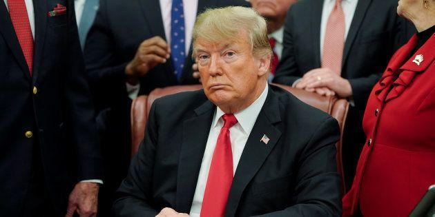 Donald Trump à la Maison Blanche vendredi 21