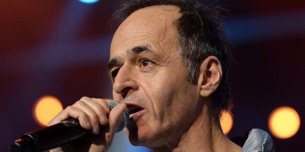Jean-Jacques Goldman lors d'un spectacle des Enfoirés à Strasbourg le 15 janvier