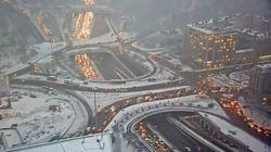 Plus de 700 km de bouchons en Île-de-France à cause de la neige et du verglas, record