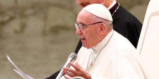 Le pape François au Vatican le 8