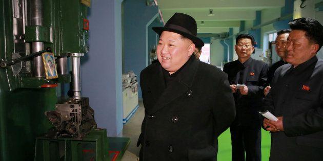 Kim Jong-Un à Pyongyang le 1er février 2018. KCNA/via
