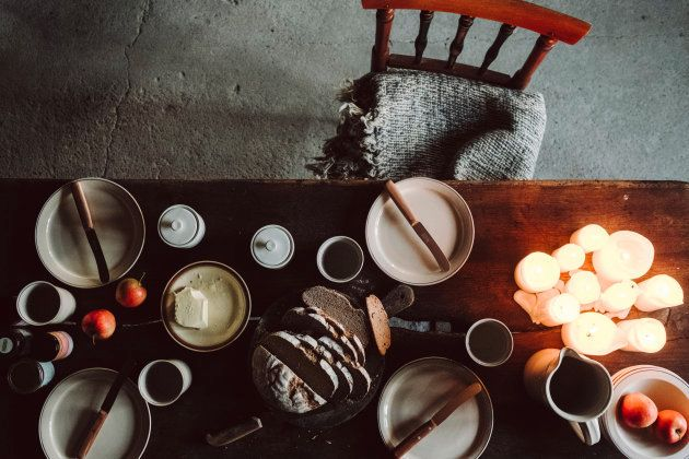 Wabi-Sabi Living Concept, Dining Table with Candles