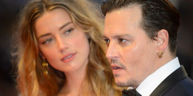 Johnny Depp and Amber Heard attending the Black Mass Premiere, at the 72nd Venice Film Festival in Venice,
