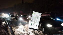 Uber assume l'explosion de ses prix face à la neige qui bloque