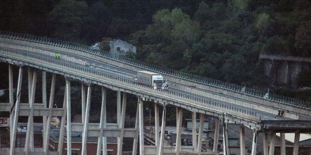 Le pont Morandi effondré à Gênes, le 16 août
