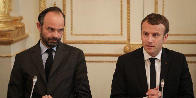 Edouard Philippe et Emmanuel Macron lors d'une réunion à l'Elysée le 30 octobre