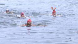 Pour ces nageurs anglais, Noël rime avec bain