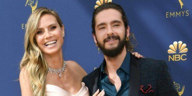 Heidi Klum et Tom Kaulitz lors de la 70ème cérémonie des Emmy Awards, le 17 septembre 2018 à Los