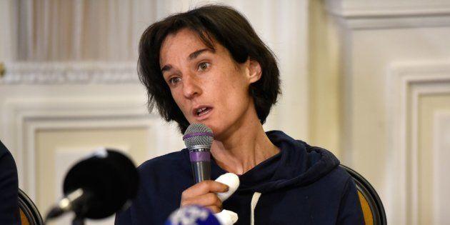 Elisabeth Revol à Chamonix le 7 février