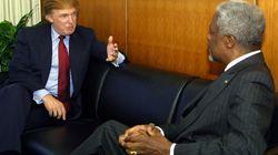 Trump donnait son avis sur Annan dans un livre sorti en 2005 (et ce n'était pas