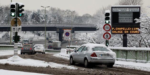 Neige et verglas à Paris (ici photographiée le 7 février) : RATP, SNCF, circulation... le point sur le