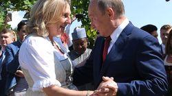 La danse de Poutine aux noces de cette ministre autrichienne d'extrême droite fait