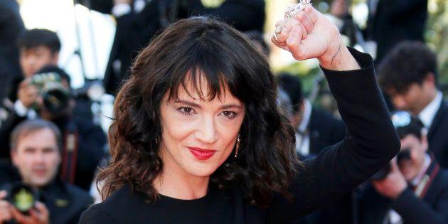 Asia Argento au festival de Cannes au mois de mai.