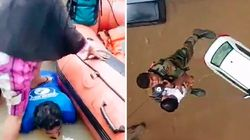 Le dévouement impressionnant des secours après les inondations monstres en